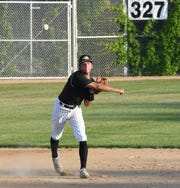 Sartell Stone Poneys shortstop Quinton Young makes a throw Wednesday, June 17, 2020, at St. Cloud Orthopedics Field in Sartell. The Bandits won 13-4.