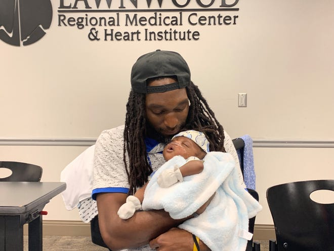 Keith Wilson, 35, of Fort Pierce, will get to celebrate Father's Day at home with his son Zaire who is now home after spending 119 days in the neonatal intensive care unit (NICU) at Lawnwood Regional Medical Center. Zaire was born on February 19 weighing 1 pound, 7 ounces.