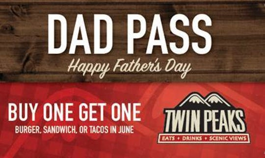 Twin Peaks is offering a special deal to dads for Father's Day.