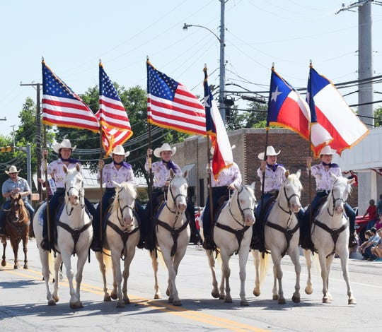 Six White Horses won first place in equestrian competition at the 2019 Jim Bowie Days Festival.