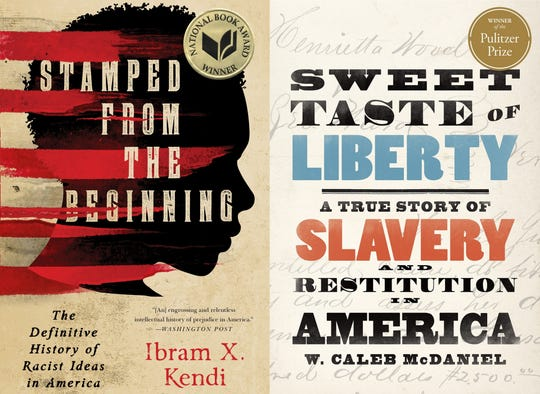 "Looking to brush up on history this Juneteenth? Experts recommend reading books like ""Stamped from the Beginning"" by Ibram X. Kendi and ""Sweet Taste of Liberty: A True Story of Slavery and Restitution in America"" by W. Caleb McDaniel."