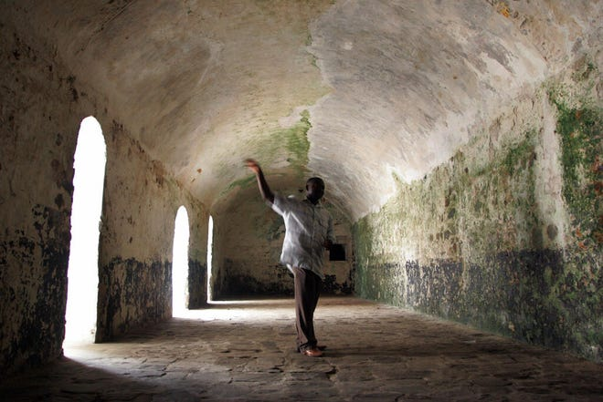 "This file photo from 2008 shows the insides of Elmina castle near Cape Coast from which African slaves were held and them transported to America. Ghana in 2020 has appealed to African Americans to immigrate to Ghana or invest in the country to ""escape racism"" and to get deeply immersed in African culture."