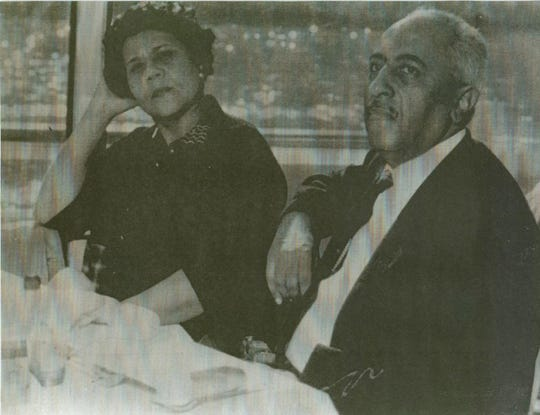 The late African-American poet and writer Arna Bontemps (right) and his late wife Alberta Bontemps.