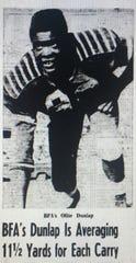 Ollie Dunlap poses in this 1959 Burlington Free Press file shot.