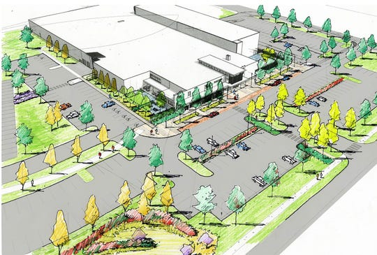 A proposed Higher Ground performance space at Burton Snowboards in Burlington is seen in this image created by Wagner Hodgson Associates for the owner. The view is from the northwest, roughly above Rhino Foods. The proposed venue would have a maximum capacity of 1,500.