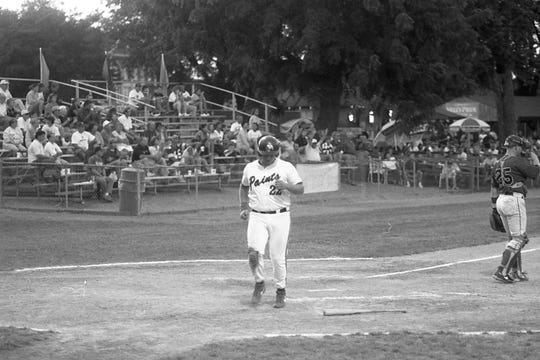 Paints rookie Dan Seimetz trots home on Michael Fletcher's RBI single in the fourth inning of the the Aug. 20, 1998 Chillicothe Paints game.