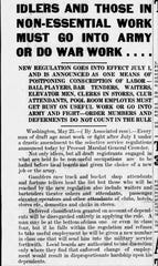 A clipping from the May 23, 1918 Gazette.