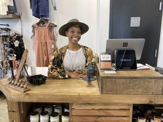 Jade Berry, the owner of The Stack, was inspired to open the store after returning from a family trip to Africa in 2017. The store features a volunteer-based Life Ready Program that helps area youth gain confidence in the business industry.