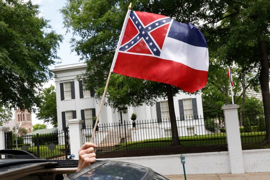 This current flag has in the canton portion of the banner the design of the Civil War-era Confederate battle flag, which has been the center of a long-simmering debate about its removal or replacement.