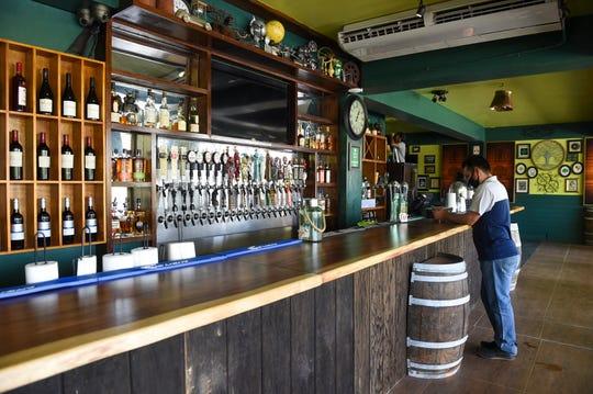The Shamrocks bar, set up for business in Tumon, June 19, 2020.
