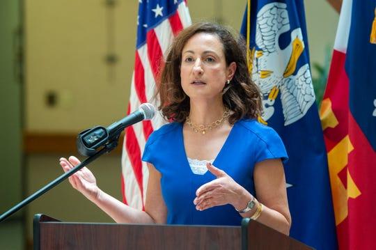 Dr. Tina Stefanski speaking at press conference at City Hall. Friday, June 19, 2020.