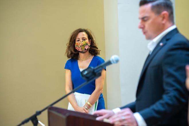 Dr. Tina Stefanski at press conference at City Hall. Friday, June 19, 2020.