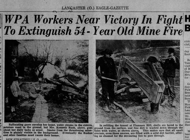 A clipping from the Lancaster Eagle Gazette edition on Feb. 25 1938.