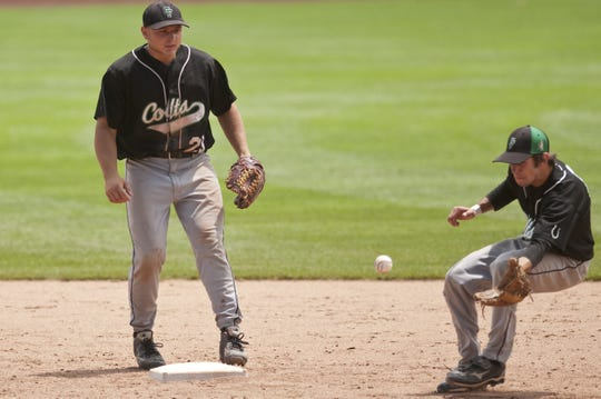 Clear Fork shortstop Jordan McCune watches as second baseman Joe Staab fields the ball during the 2010 Division III state championship baseball game at Huntington Park in Columbus.