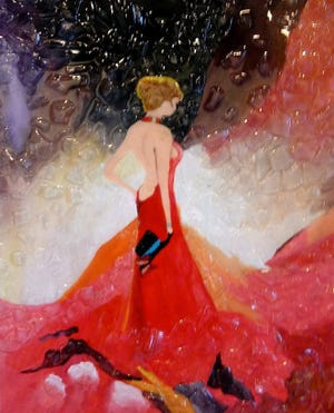 """""""Lady with the Jeweled Hat"""" by is Dom-O-Nik is part of the July presentation at the Marco Island Center for the Arts."""
