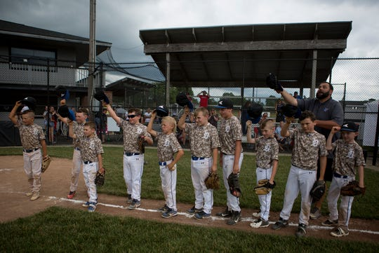 The Licking Valley Dirtbags 9U beat the Jackson County Black Sox 5-4 in their first game of the Nations Ohio State Championship at Mound City in Newark.