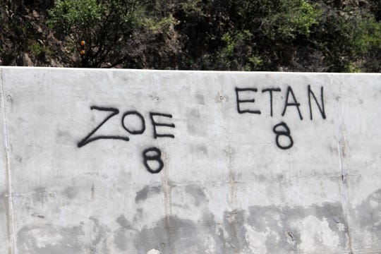 Graffiti at the Mexican Canyon Trestle Vista on U.S. Highway 82 near Cloudcroft.