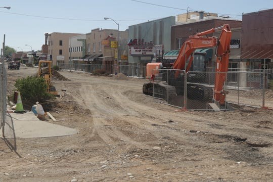 The removal of asphalt and the construction of a chain-link fence around the perimeter marked the beginning of work on phase two of the Complete Streets project in downtown Farmington.