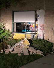 A teen driver apparently suffered a seizure before crashing into the Milford Public Library on June 12, 2020.