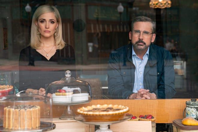 Rose Byrne and Steve Carell play rival political strategists in 'Irresistible.'