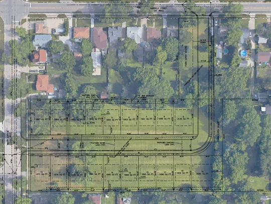 The preliminary site plan shows Port Huron's proposal for property at 2706 10th Ave,. owned by St. Clair County, in-roads would be build from 10th and Garfield Street and that it'd support room for 19 new homes, ranging in size between 1,800 and 2,500 square feet.
