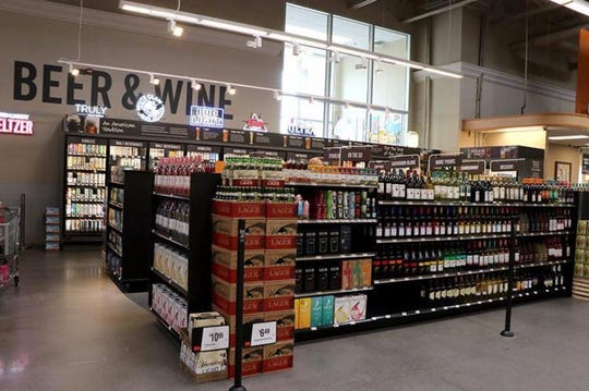 The Martin's Food Market in Waynesboro recently started selling beer and wine.