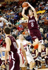 Bronte High School's Dakota Rawls takes a shot against Gruver in the state semifinals March 6, 2010, at the Frank Erwin Center in Austin.