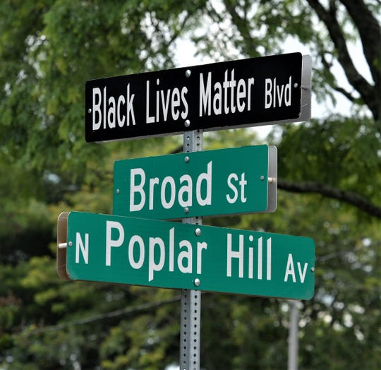 Salisbury officials renamed Broad St. Black Lives Matter Blvd. on Friday, June 19, 2020.