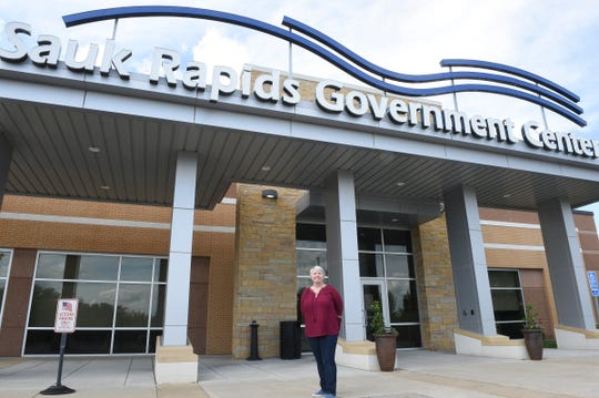 Dottie Seamans poses for a photo Friday, June 19, 2020, at Sauk Rapids City Hall.