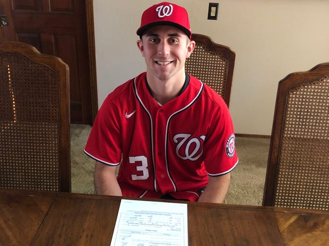 Visalia native Holden Powell officially signed a contract with the Washington Nationals on Friday after being drafted by the defending World Series champions last week in the third round. Powell played at Mt. Whitney High School and UCLA.
