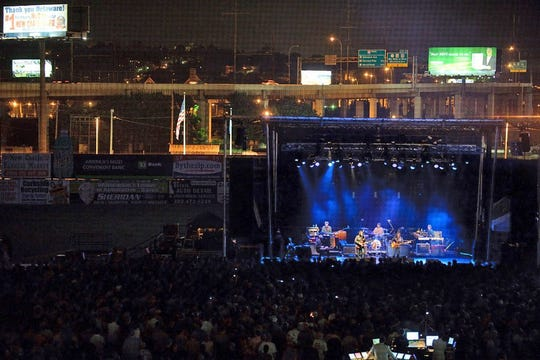 Unlike when Wilco performed at Wilmington's Frawley Stadium in 2009 in partnership with The Grand, the new drive-in concert series at the stadium will be held in the parking lot.