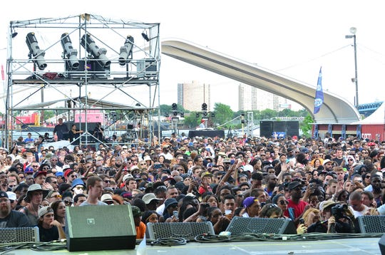 The crowd at the Roots Picnic at Festival Pier at Penn's Landing on May 31, 2014 in Philadelphia, Pennsylvania.