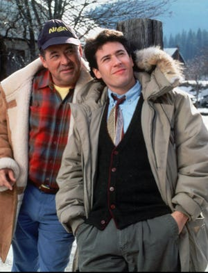 """Barry Corbin and Rob Morrow in quirky CBS drama """"Northern Exposure,"""" a summer hit in 1990 that lasted six seasons."""