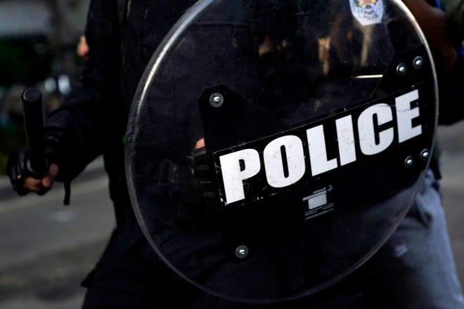 A police shield.