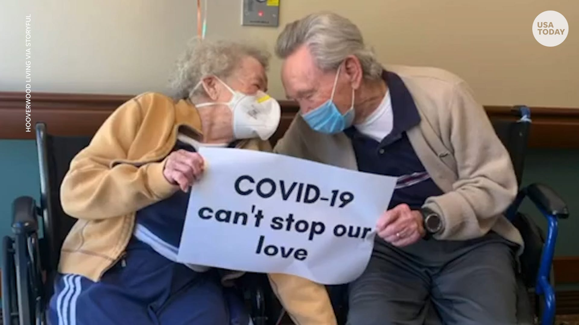 Couple reunited after 90-year-old wife spent over a month in hospital for COVID-19