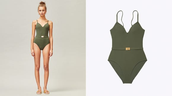This one-piece is super flattering.