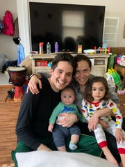 Scott Krakower with his wife, Heather, and two kids.
