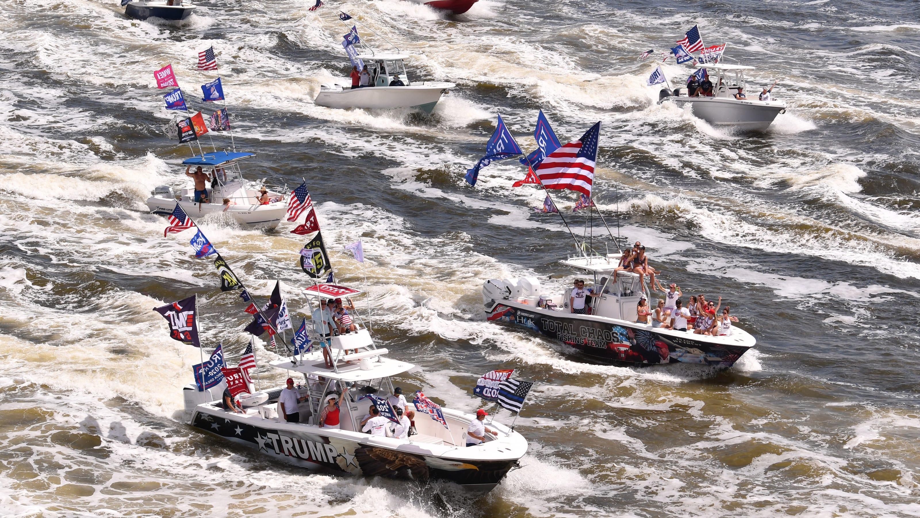Trump Space Coast Boat Parade Draws Enormous Fleet Of Watercraft To Intracoastal Waterway