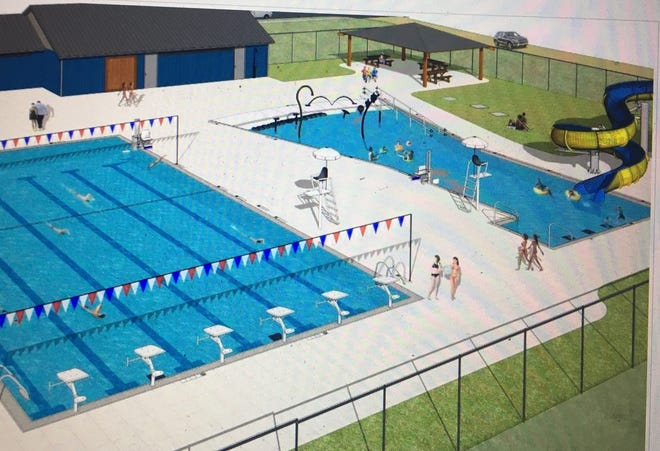 A rendition of the Myers Memorial Pool in Winooski. The completion of the pool renovation is on hold due to COVID-19.