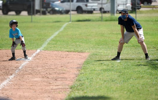 National Little League hosts their first day of the season, Saturday, June 20, 2020, at the Paul Jones Avenue Sports Complex. Coaches, athletes, parents and officials were encouraged to social distance and sanitize used spaces.