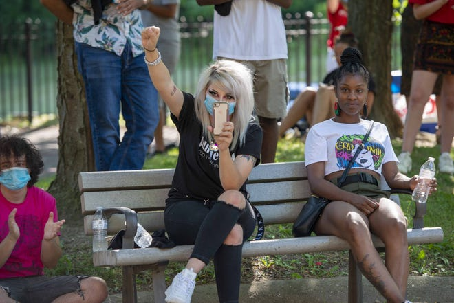The first Juneteenth Celebration at Inwood Park featured food, music, a voter registration table and games for kids. The event also featured speakers who spoke about how far we've come and how far we need to go.