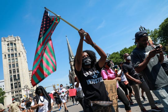 Jocelyne Green, 36, of Southfield says she is a native Detroiter, and that's why she helped organize the Juneteenth BLM March with three other activists on June 20, 2020.