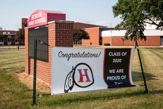Huron High School in New Boston, Friday, June 19, 2020.