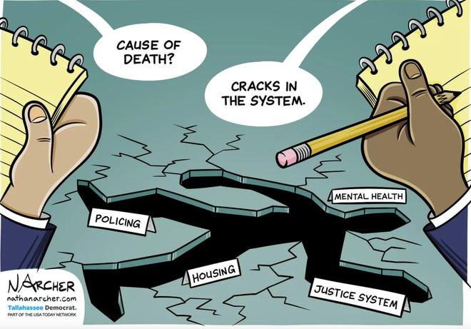 Nathaniel Archer editorial cartoon