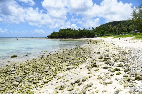 Guam EPA advises that no harvesting or consumption of seaweed, fish or marine organisms is allowed at Tanguisson Beach.