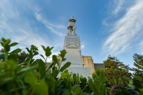 Statue of Confederate Gen. Alfred Mouton in Lafayette, LA.