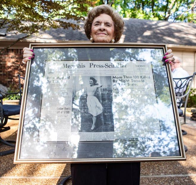 First Memphis Miss City Beautiful, Marilyn Jo McNamara, celebrates her 90th birthday in Memphis, Tenn., on Friday, June 19, 2020.