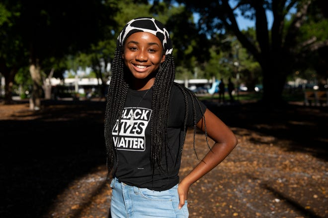 Tharina Oris poses for a portrait on Friday, June 19, 2020, at Cambier Park in Naples.