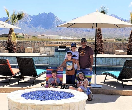"The McGarvey family is happy to have their pool and appliances connected to natural gas supplied by LCU. Jeremy McGarvey is the very first customer in the Talavera Subdivision (located behind ""A"" Mountain) to be connected to LCU natural gas."