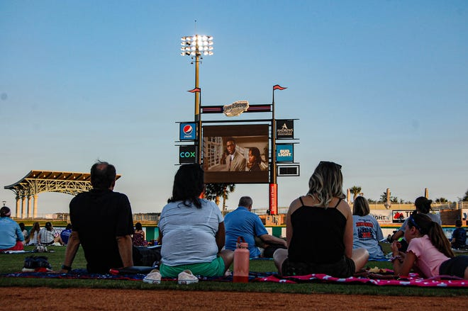 The Blue Wahoos Stadium held a showing of Jackie Robinson movie '42' in honor of Juneteenth on Friday, June 20, 2020.